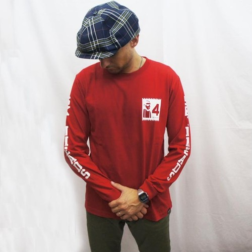 4 SKINHEADS LONG SLEEVE  Tシャツ RED