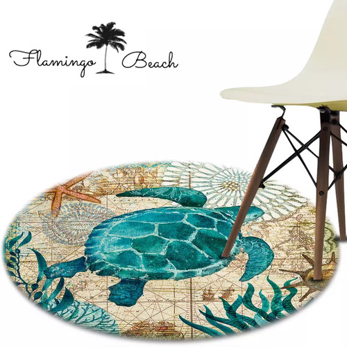 【FlamingoBeach】turtle home mat