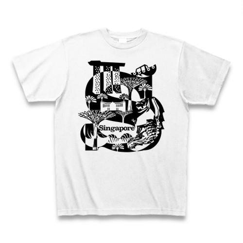 Tシャツ Singapore:ホワイト