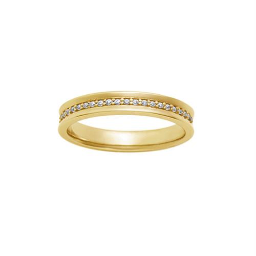 [約1ヶ月でお届け]レディース 2.4mm幅 K18 結婚指輪 OCTAVE∞Bonheur~幸福~「かけがえのない毎日 溢れてくる ありがとう」