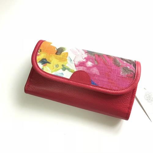 カラフル長財布 水彩ピンク