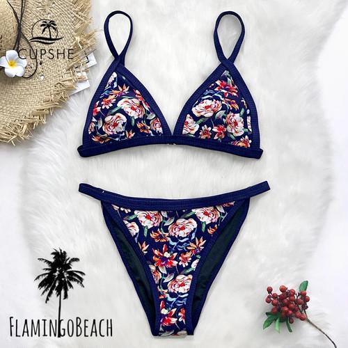 【FlamingoBeach】flower simple cut bikini ビキニ