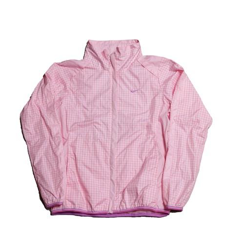 Nike PinkGinghamCheckNylonZipJacket