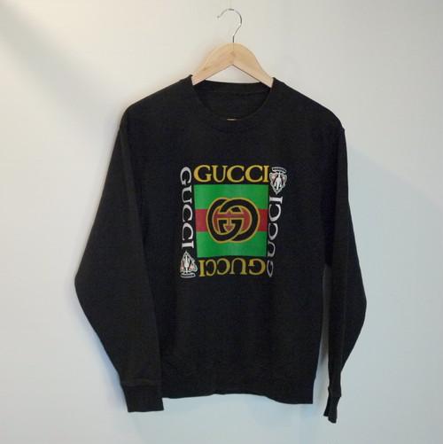 "GUCCI Bootleg 1990's Sweat ""Black"""