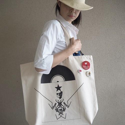 AMURITANONIWA-RECORD-SHOPPING-BAG (バッジ付き)