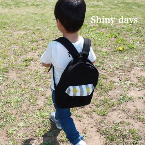 【受注製作】国産帆布のリュックサック/Sサイズ/ブラック/子供用/子供用リュック