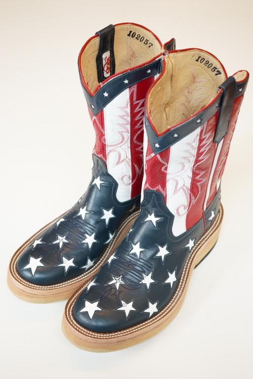 srf.0001 star & stripes roper boots.