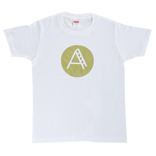 TASKO「A」Tシャツ ホワイト&ゴールド