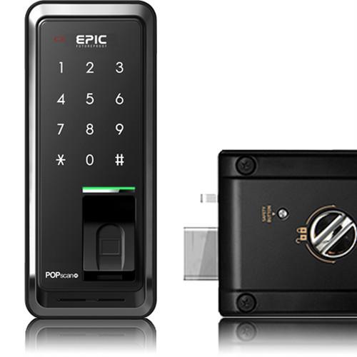 Popscan3(指紋+暗証番号)開きドア後付け用電子錠取付工事一式