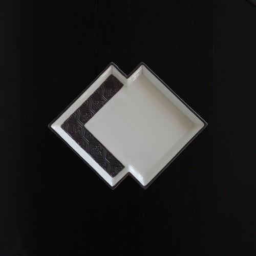 重菱形小皿