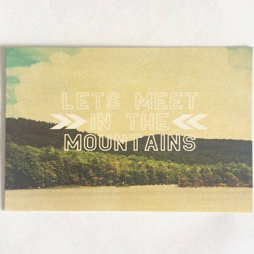 Meet in the Mountain card