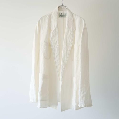 Linen Buttonless Jacket (Natural)