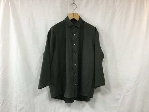 "semoh""3/4 sleeve wide shirt sage green"""