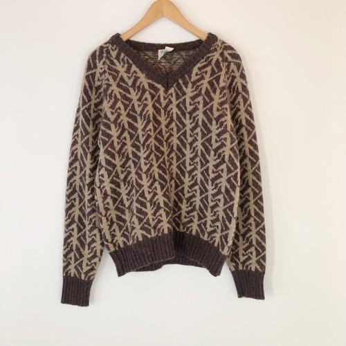 Brown Pattern Knit