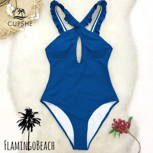 【FlamingoBeach】blue furil monokini モノキニ