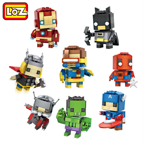LOZ Mini Blocks Brick Heads Figure Toy Ant Man Captain America  Thor Iron Man Assemblage Toy Offical Authorized Distributer