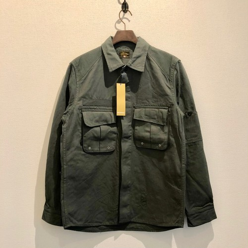 MILITALY WORK SHIRTS (DARK GREEN) / GERUGA