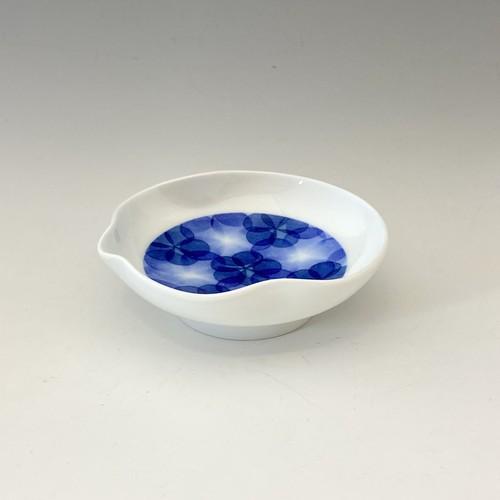 【中尾英純】和紙染花文豆皿