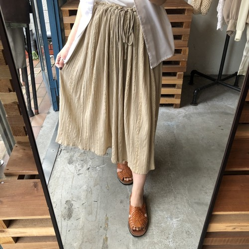 Beige embroidery washer skirt