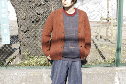 Acrylic × Wool Knit Cardigan