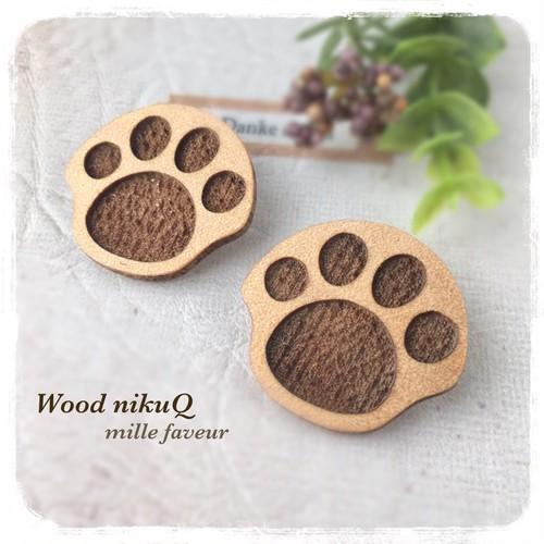 Wood nikuQ ブローチ グルーデコ土台