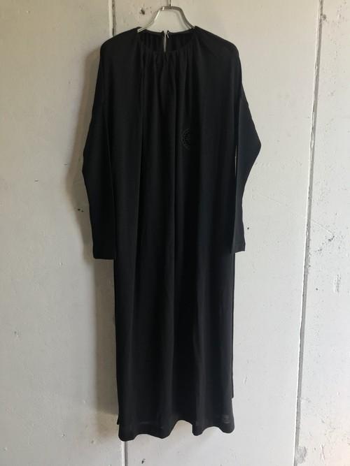 PONTI  wool jersey gather dress