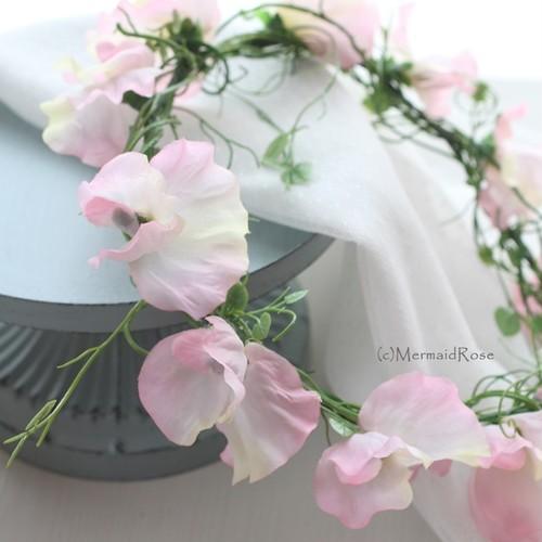 花冠スイトピー(ピンク)&ハートリーフ
