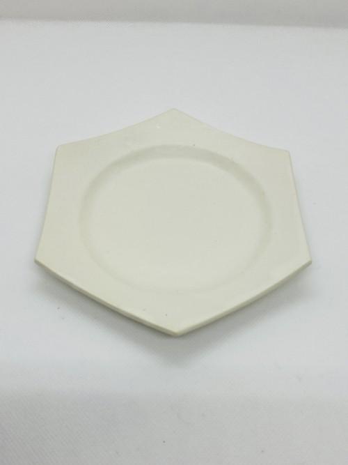 野上薫 paperシリーズ六角小皿(white)