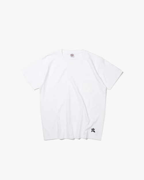STAR POCKET T-SHIRT / WHITE