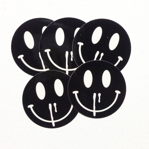HAPPINESS OVERDOSE BLACKENED VINYL STICKER 5pc.