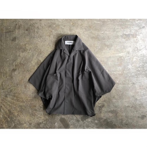 BASISBROEK (バージスブルック)『ETU』 Dolman Sleeve Open Collar S/S Shirt
