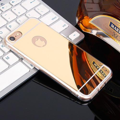 iphone TPU 鏡面 ミラーカバー (iphone7,ゴールド) bpab1015