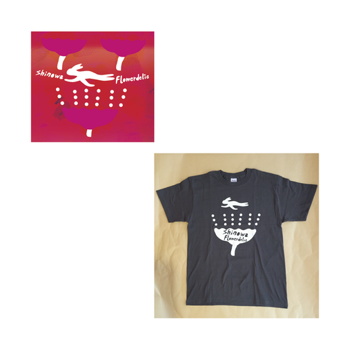 "shinowa ""Flowerdelic"" CD & T-shirt BANDLE"
