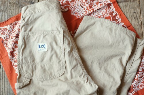 "70's Lee beige carpenter Pants ""Made in U.S.A."""