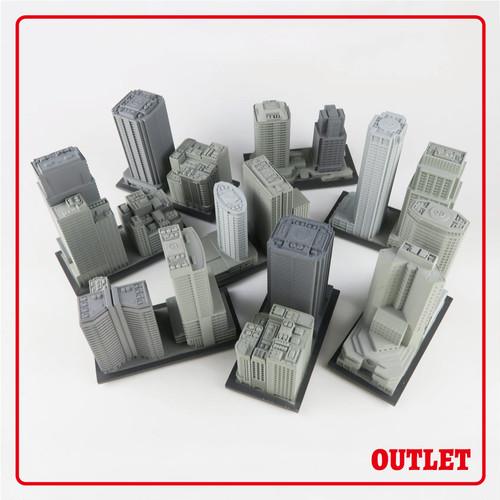 〈OUTLET〉中層ビル 8個セット※訳アリ