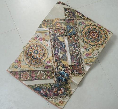 美しいキモノ掲載柄 橋本清織物謹製 西陣織 袋帯 金銀糸 白 118