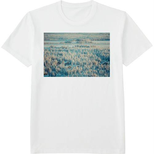 65.Finland100 Tシャツ / 森と湖の国。