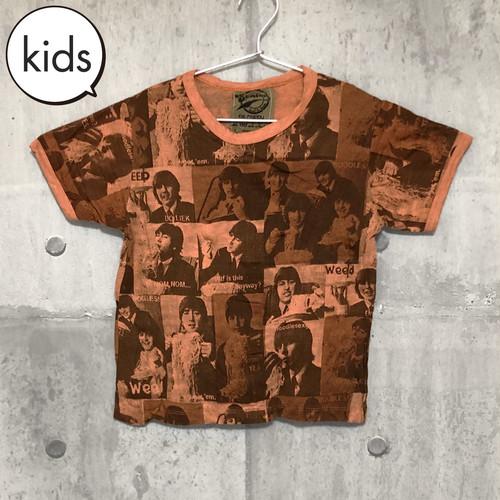 【送料無料 / ロック バンド Tシャツ】 THE BEATLES / Photo Orange Kids T-shirts L ザ・ビートルズ / フォト オレンジ キッズ Tシャツ L