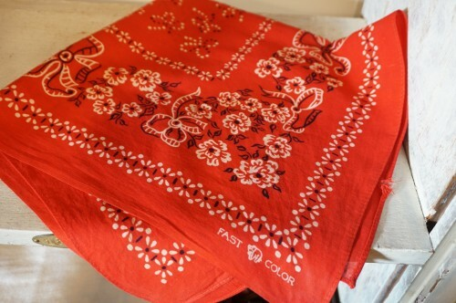 "50's Elephant brand red Bandana ""TRUNK DOWN"""