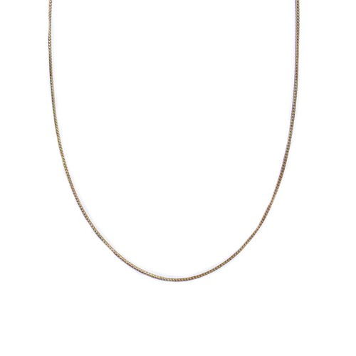 【14K-3-8】20inch 14K real gold chain necklace