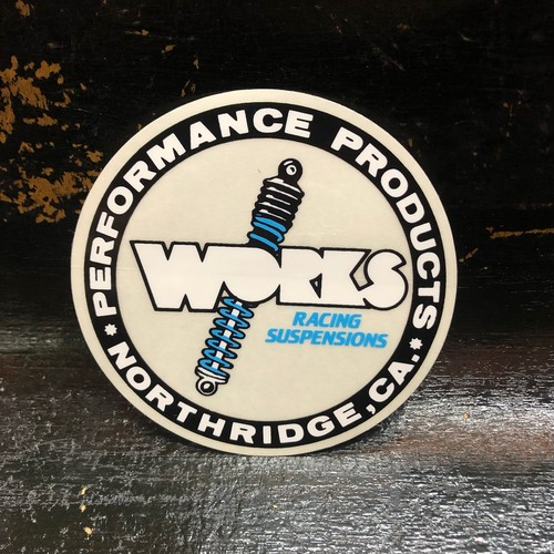 WORKS PERFORMANCE RACING SUSPENSIONS Vintage Sticker ワークスパフォーマンス アメリカのサスペンションパーツ専門メーカー