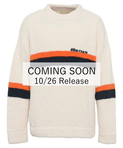 LOGO EMBROIDERY COLOR LINE MALL KNIT[REK084]