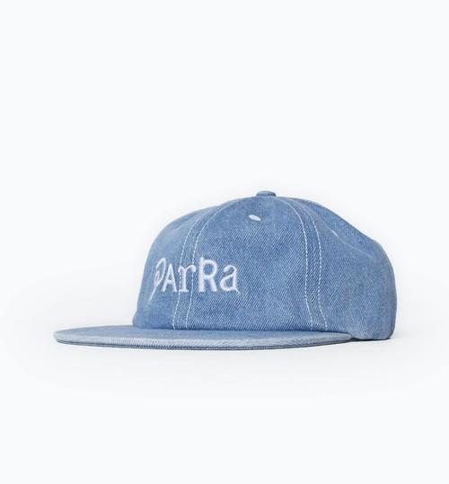 by Parra  - script mix logo 6 panel hat (Denim)