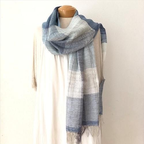 SOLD OUT◆手織りストール  シルクとリネン ◆