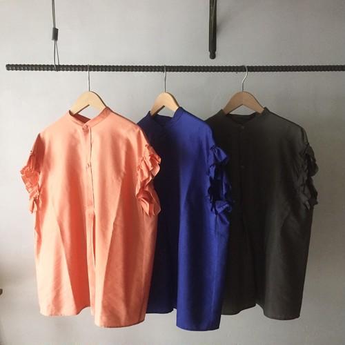 rehersall フリルシャツ