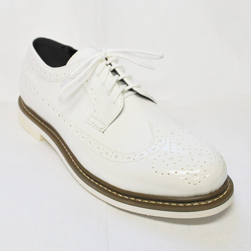 【Reguler Line】WING TIP SHOES GR-KI2534 ALL WHITE