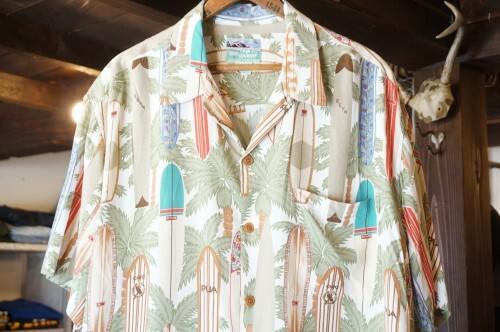 "80's REYN SPOONER rayon s/s Shirt ""SURFBOARD"""
