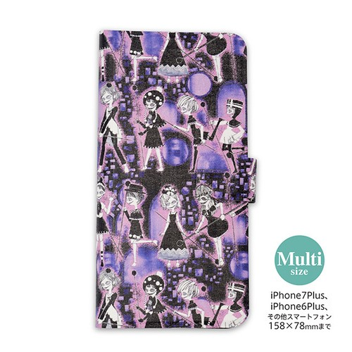 マルチサイズ手帳型スマートフォン用ケース「劇場版魔法少女まどか☆マギカ」使い魔柄