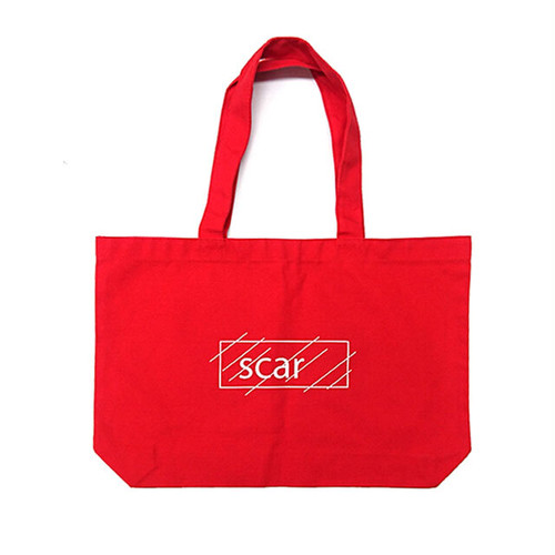 scar /////// OG LOGO LARGE TOTE BAG (Red)