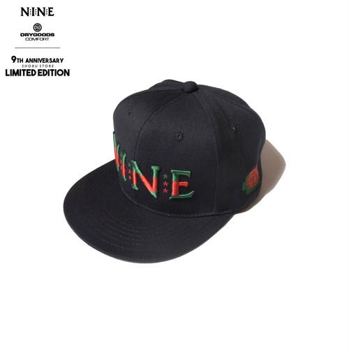 NINE RULAZ LINE × DRYGOODS COMFORT LIMITED CAP BK/RED/GRN